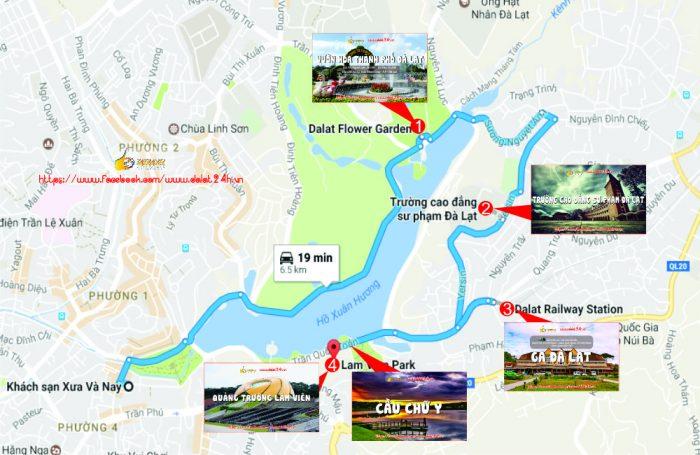 Lịch trình du lịch Đà Lạt tháng 12 - Tuyến địa điểm du lịch trung tâm Đà Lạt