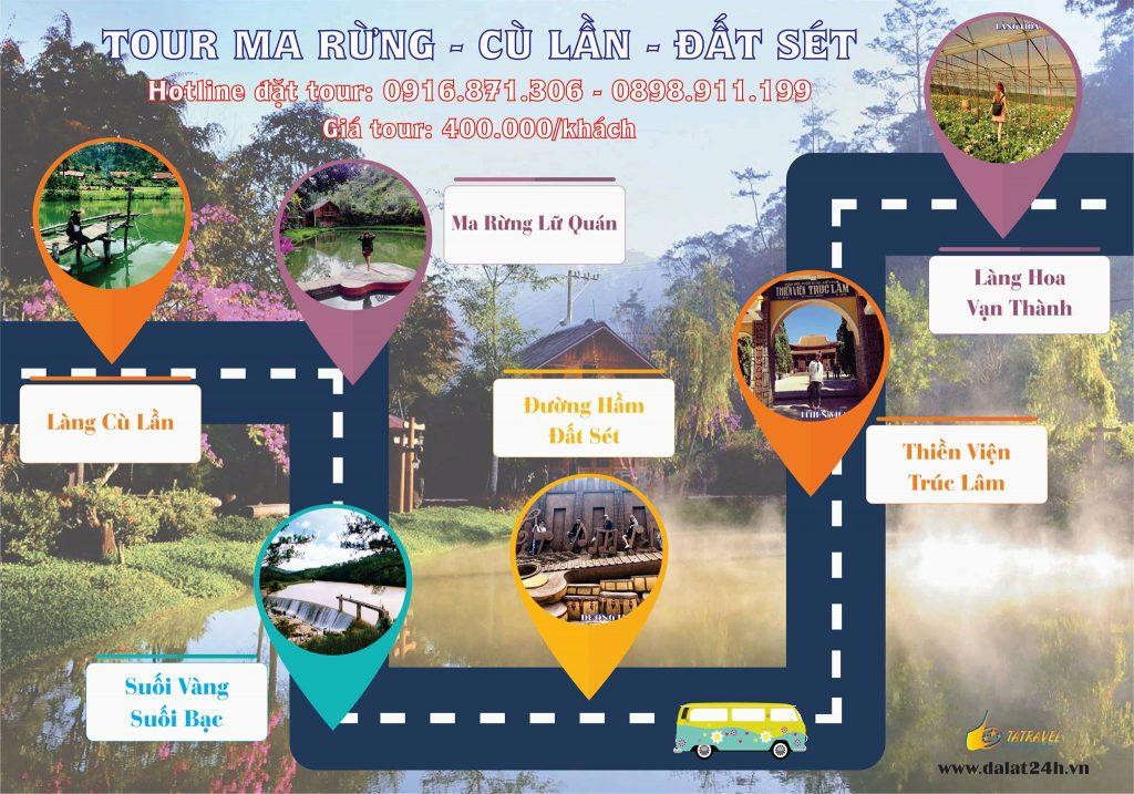 Tour Đà Lạt 1 ngày gía rẻ- làng cù lần - ma rừng lữ quán - đất sét -datphongdalat.vn