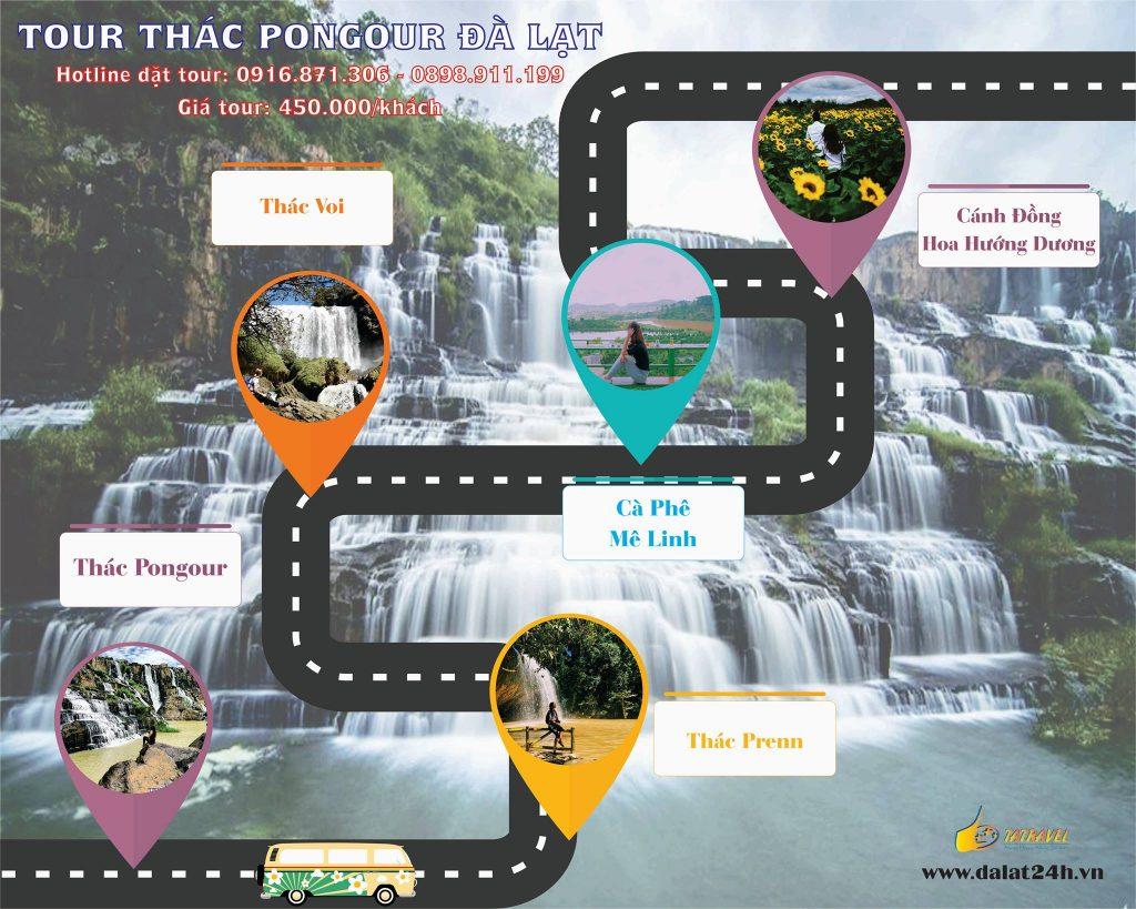 Tour Đà Lạt 1 ngày - thác Pongour Đà Lạt -datphongdalat.vn