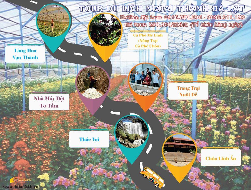Tour Đà Lạt 1 ngày giá rẻ - tham quan ngoại thành -datphongdalat.vn