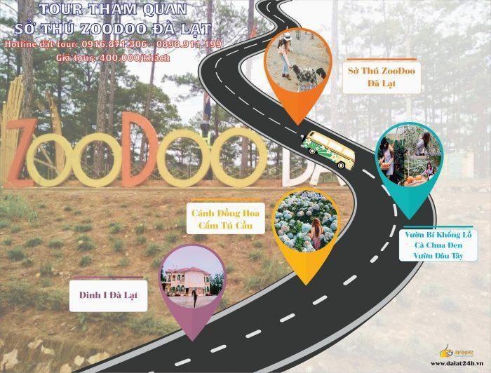 Tour Đà Lạt 1 ngày gía rẻ - Zoodoo -datphongdalat.vn