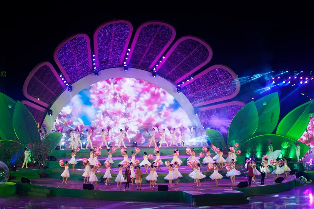 Sân khấu chính tại Lễ hội hoa Đà Lạt 2017