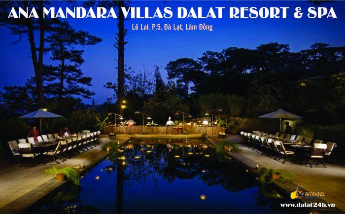 Hồ bơi tại Biệt thự Đà Lạt Ana Mandara - khu khách sạn Villa Đà Lat 5 sao