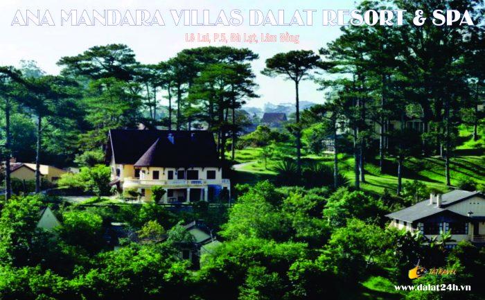 Khung cảnh Biệt thự Đà Lạt Ana Mandara - khu khách sạn Villa Đà Lạt 5 sao
