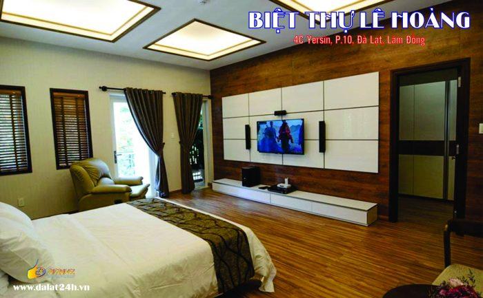 Phòng ngủ ấm cúng và sang trọng của Biệt thự Đà Lạt Lê Hoàng - Villa Đà Lạt