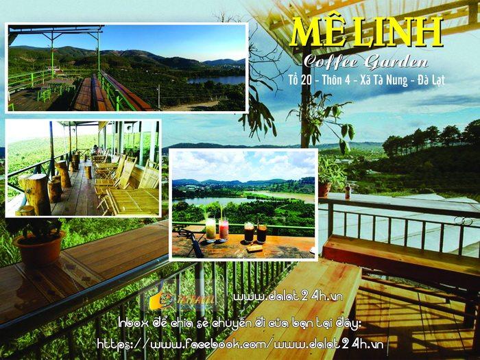 Top 10 quán cafe Đà Lạt tuyệt đep - Mê linh coffee garden