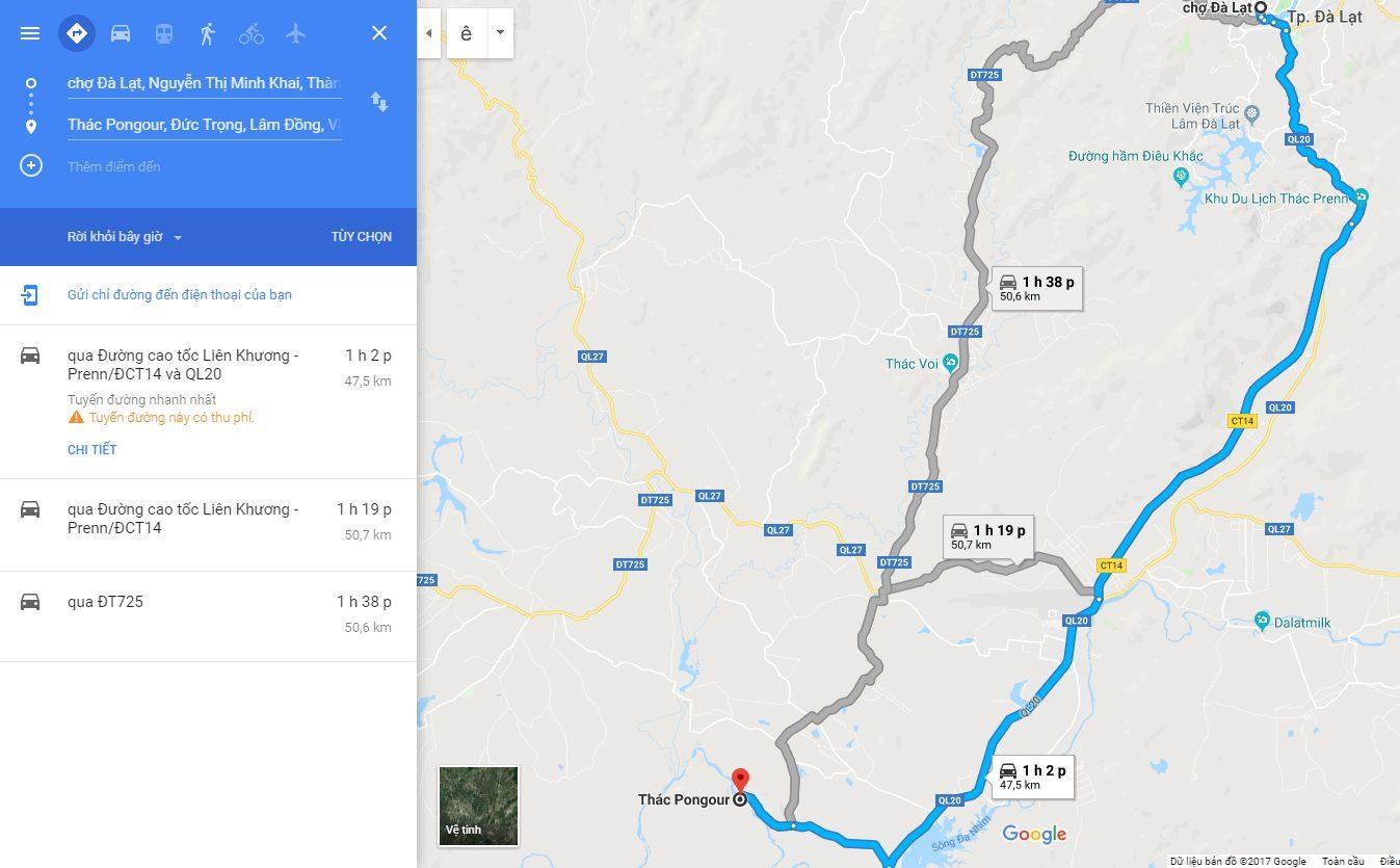 Hướng dẫn đường đi thác Pongour Đà Lạt - địa điểm du lịch Đà Lạt - datphongdalat.vn