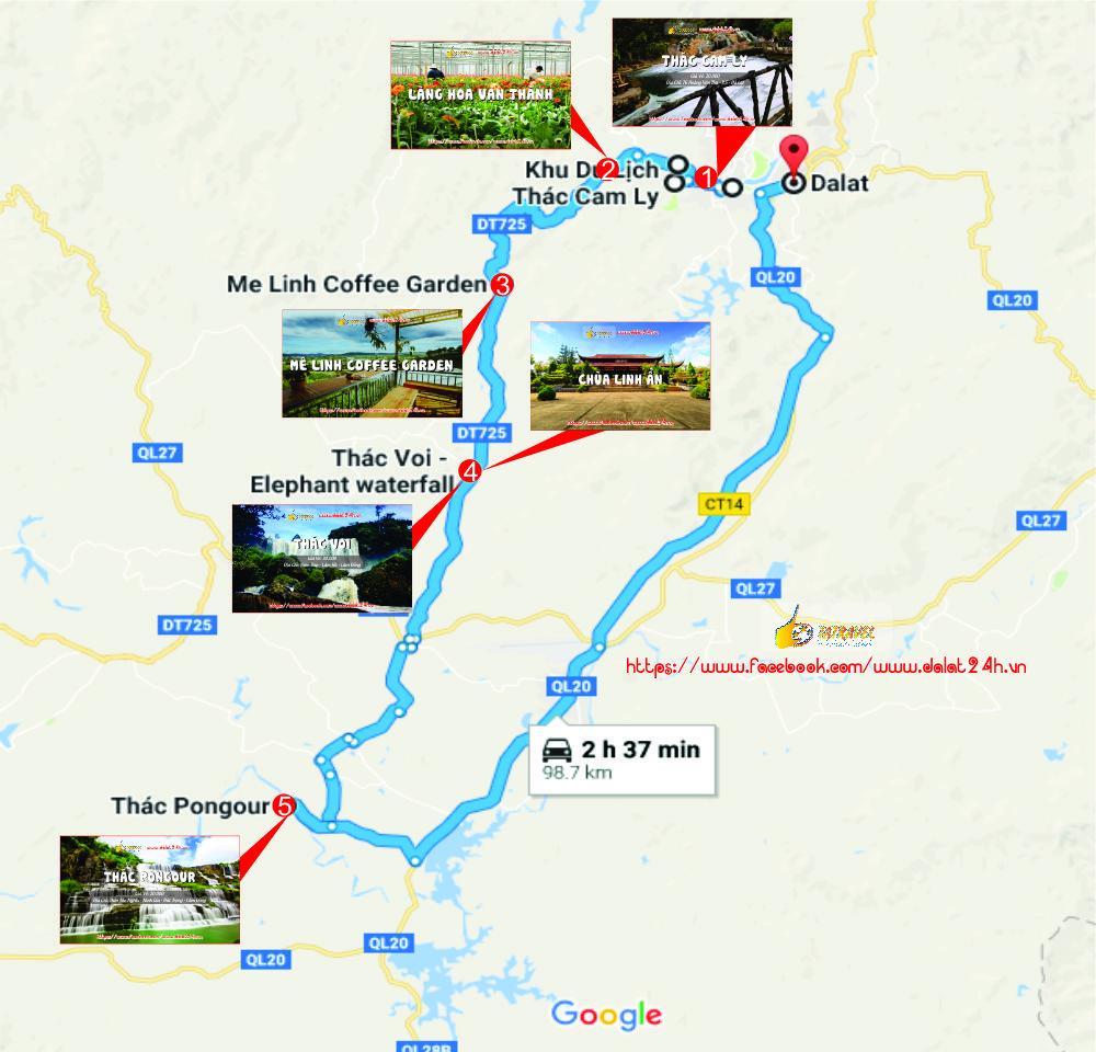 Tuyến Nam Đà Lạt - Du lịch Đà Lạt tháng 1 - datphongdalat.vn