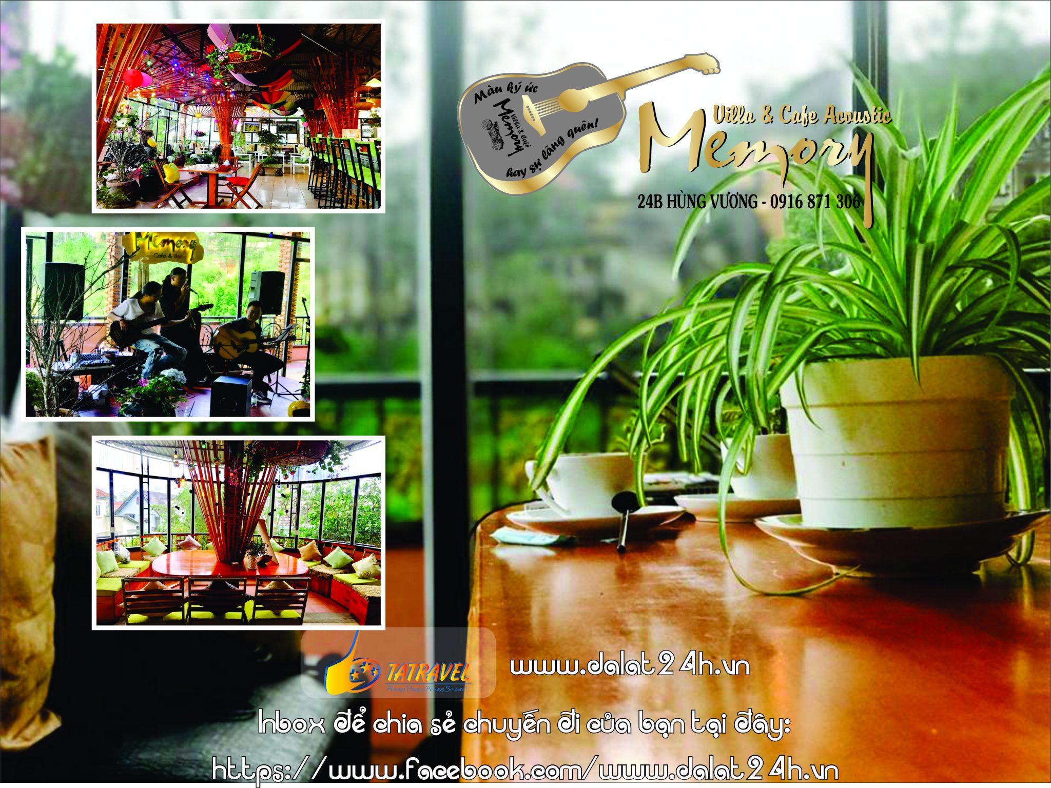 Top 10 quán cafe Đà Lạt tuyệt đẹp - Cafe Memory Acoustic - datphongdalat.vn