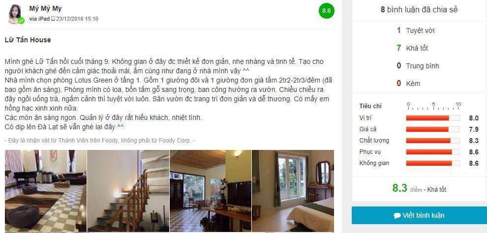 Review cua khach tren foody Lu Tan Homestay Da Lat - Top homestay Da Lat dep nhat - datphongdalat.vn-01