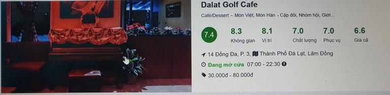 Quán cafe Đà Lạt Golf - Top 10 quán cafe Đà Lạt đẹp nhất 2021