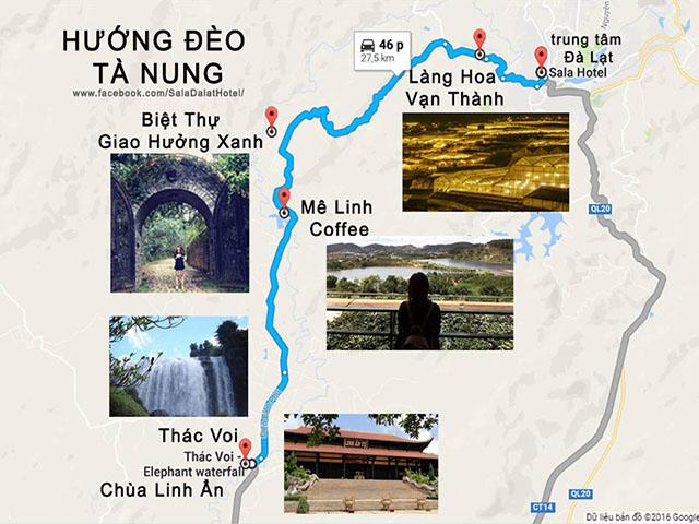 Lịch trình cụ thể thuận tiện cho cung đường Đà Lạt - Tà Nung